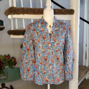 Lucky Brand Floral-print Button DownTop